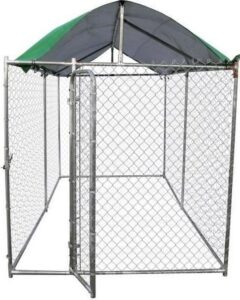 POILS & PLUMES Oscar + Steel M Roof Kennel - 3,96x2,29x1,83 m - For Dog