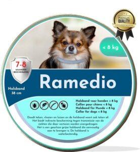 Ramedio dé diervriendelijke anti vlooien en tekenband voor een kleine hond
