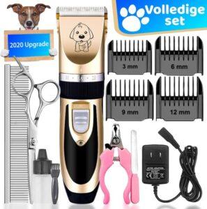 Rde Topic Professionele HondenTondeuse Set - Trimmer - Accessoires - 4 Opzetstukken, Schaar, Nagelknipper, Nagelvijl, Schaar - Draadloos