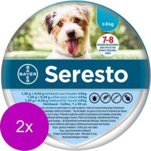 Seresto Teken- En Vlooienband Small - Anti tekenmiddel - 2 x 38 cm Tot 8 Kg