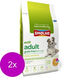 Smolke Adult Grain Free Formula Kip&Groente&Lam - Hondenvoer