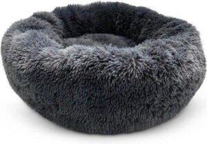 Snoozle Hondenmand - Superzacht en Luxe - Wasbaar - Fluffy - Hondenkussen - 60cm - Grijs