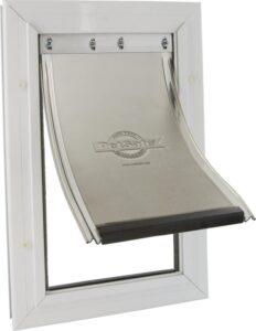 Staywell 620 Hondenluik - Aluminium - Wit