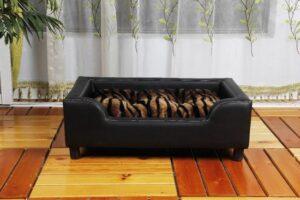 Topmast Hondenbank Leatherlook zwart 79x54x25cm