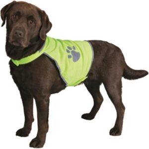 Trixie Veiligheidsjasje Safer Life Fluo Hond XL - Kleding - 95 cm - Geel