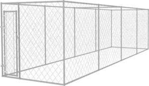 vidaXL Hondenkennel voor buiten 8x2 m