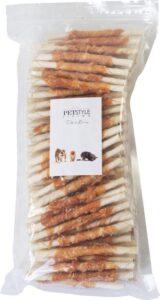 Petstyleliving-Wit gedraaide sticks met kip 12-5cm 7-8mm-100 stuks-Hondensnack