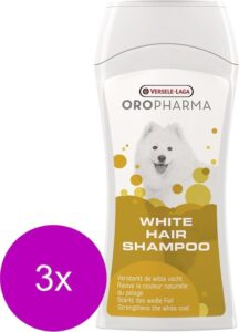 Versele-Laga Oropharma White Hair Shampoo - Hondenvachtverzorging - 3 x 250 ml