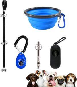5 in 1- Hondentrainer- Blauw-Zwart- Hondenset- Clicker Hond- Anti Blaf