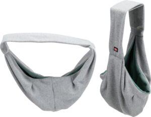 Trixie Draagtas - Junior tot 5kg - Buikdrager Soft - Grijs - 22 × 20 × 60 cm