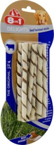 8in1 Delights Twisted Sticks Hondensnack - Rund - XS