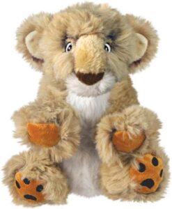 Kong Comfort Kiddos Lion - Hondenspeelgoed - Bruin Large
