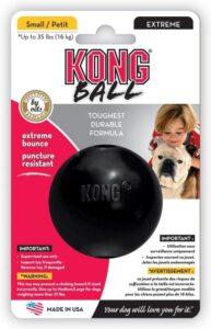 Kong Extreme Bal - Hondenspeelgoed - Zwart - M-L