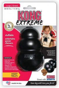 Kong Extreme - Kauwbot Hondenspeelgoed Large - Kauwspeelgoed - 101mm x 69mm x 77mm - Zwart