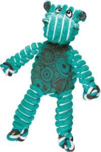 Kong Floppy Knots - M-L - Nijlpaard - Hondenspeelgoed - Groen - Blauw - 36 x 19 x 8 cm