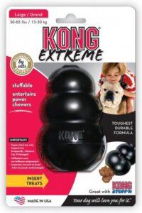 """Kong hond Extreme rubber """"S"""", zwart."""