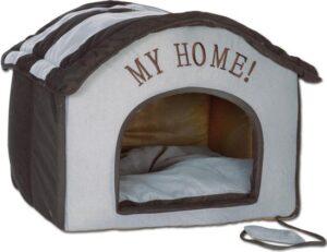 My Home Hondenhuis Zwart - Grijs
