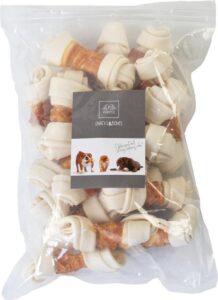 Petstyleliving - Wit geknoopt bot met kip 10-11cm