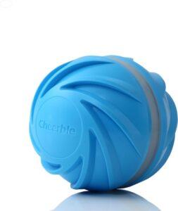 Wicked Ball 2.0 - Extra sterk - Automatische speelbal - Honden speelgoed - 3 standen - USB charging - Blauw - 8 cm