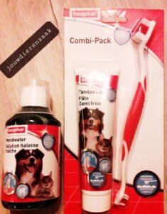 combi pakket Beaphar mondwater + tandpasta + tandenborstel