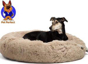 Donut Hondenmand - Zacht Pluche Hondenmanden - 80 x 80cm - Antislip