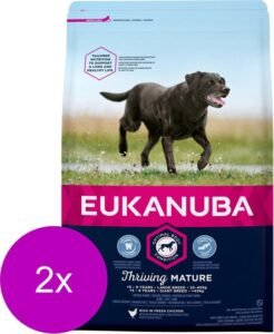 Eukanuba Dog Mature & Senior - Large Breed - Hondenvoer - 2 x 3 kg