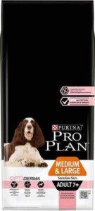 Pro Plan Medium-Large Adult 7+ Sensitive Skin - Hondenvoer Zalm met Optiderma - 14 kg