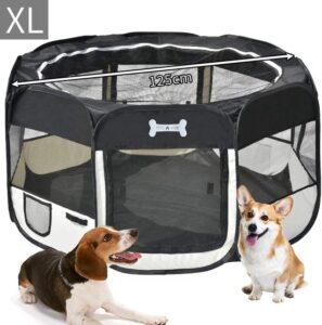 Deluxe puppyren - Puppy-box Opvouwbare puppy-speelpen voor honden