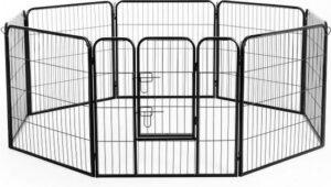 KLD Puppyren 8 panelen van 80 x 80 cm. zwart