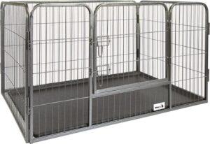 MaxxPet Hondenbench-Puppyren - Zwart - 125 x 78 x 80 cm
