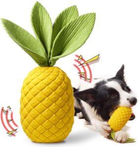 Onverwoestbaar Hondenspeelgoed - Kauwspeelgoed - Rubber - Onverwoestbaar - Ananas - Met Pieper