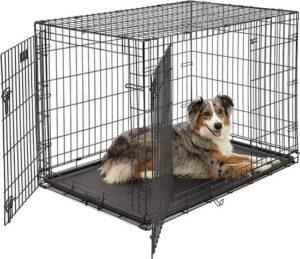 PETSTORE Hondenbench Bench Autobench STRONG - Zwart - Honden tot 30 kg - L - 91 x 57 x 64 cm + stevige lade - 2 deuren-Uitneembaar Tussenschot