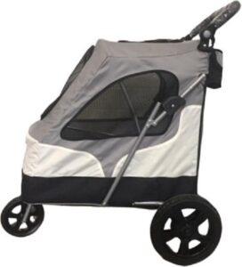 Topmast - Hondenbuggy - Buggy - wandelwagen honden - De Luxe - 3 wielen - Grijs - 87 x 66 x 110 cm