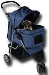 Topmast Hondenbuggy Donkerblauw 3 wielen