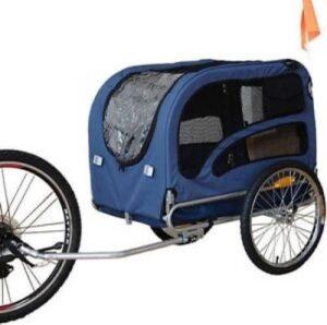 Topmast Hondenfietskar - Fietskar -Hondenaanhanger XL Blauw