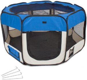 Topmast Puppyren - Puppytent - Nylon - Blauw - Diameter 125 cm - 61 cm hoog