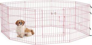 Topmast Puppyren Uitvouwbaar Roze metaal XL