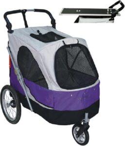 Topmast Safari Hondenbuggy met extra Trimblad - Black Purple
