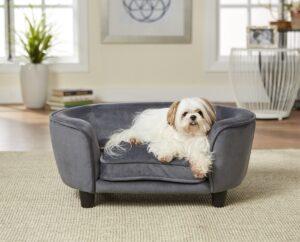 Enchanted hondenmand - sofa coco grijs 67,5 x 40,5 x 30,5 cm