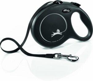 Flexi New Classic - Leiband - Incl. Band - Zwart - L - 8M