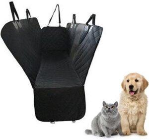 Honden autostoel achterbank - pet car cushion-waterdichte zwarte hangmat