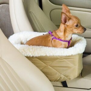 Honden autostoel chihuahua - Snoozer - Autostoel voor honden - Khaki