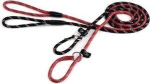 Hondenriem sliplijn - Beeztees - Zwart - 170 cm x 13 mm