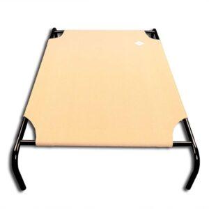 Hondenstretcher Bed Op Poten - Hondenligbed 90x65cm - Zandkleurig Overtrek