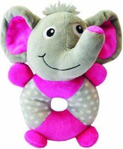 Little rascals pluche speelring olifant 20 x 17 x 8 cm