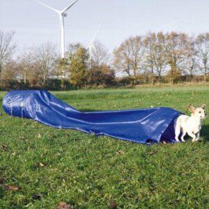 Trixie dog activity agility tunnel blauw 60 cmx5 mtr