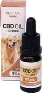 beste CBD olie voor uw hond met 5% concentratie